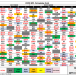 1 Page Printable Nfl Schedule Calendar Template