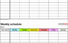 11 Editable Daily Work Schedule SampleTemplatess