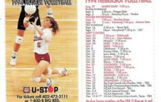 1994 Nebraska Cornhuskers Husker Volleyball Pocket