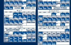 2012 Regular Season Schedule Yankees Schedule Yankees