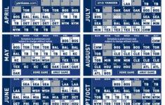 2015 New York Yankees Printable Schedule Yankees New