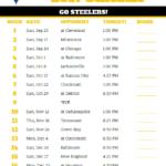 2017 Pittsburgh Steelers Football Schedule Steelers