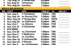 2018 19 Pittsburgh Steelers Printable Schedule