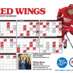 2018 2019 Detroit Red Wings Schedule Caron Koteles Riha