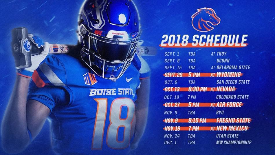 2018 Boise State Football Schedule KBOI AM