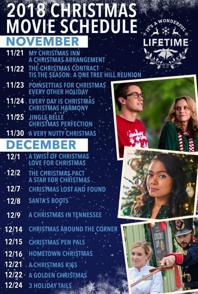 2018 Hallmark Lifetime Christmas Movie Schedule