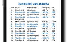 2019 2020 Detroit Lions Lock Screen Schedule For IPhone 6