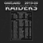 2019 2020 Oakland Raiders Wallpaper Schedule