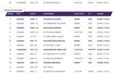 Printable Vikings Schedule