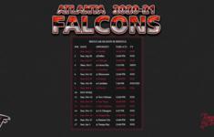 2020 2021 Atlanta Falcons Wallpaper Schedule