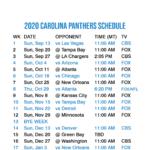 2020 2021 Carolina Panthers Lock Screen Schedule For