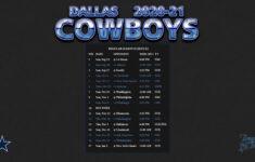 2020 2021 Dallas Cowboys Wallpaper Schedule