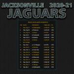 2020 2021 Jacksonville Jaguars Wallpaper Schedule
