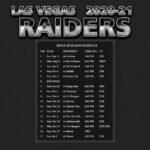 2020 2021 Las Vegas Raiders Wallpaper Schedule