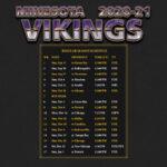 2020 2021 Minnesota Vikings Wallpaper Schedule