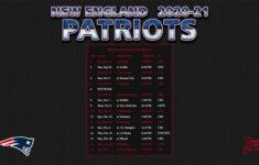2020 2021 New England Patriots Wallpaper Schedule