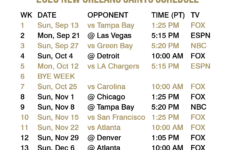 2020 2021 New Orleans Saints Lock Screen Schedule For