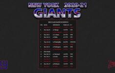2020 2021 New York Giants Wallpaper Schedule