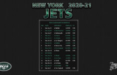 2020 2021 New York Jets Wallpaper Schedule
