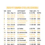 2020 2021 Pittsburgh Steelers Lock Screen Schedule For