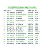 2020 2021 Seattle Seahawks Lock Screen Schedule For IPhone