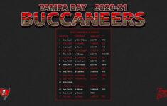 2020 2021 Tampa Bay Buccaneers Wallpaper Schedule