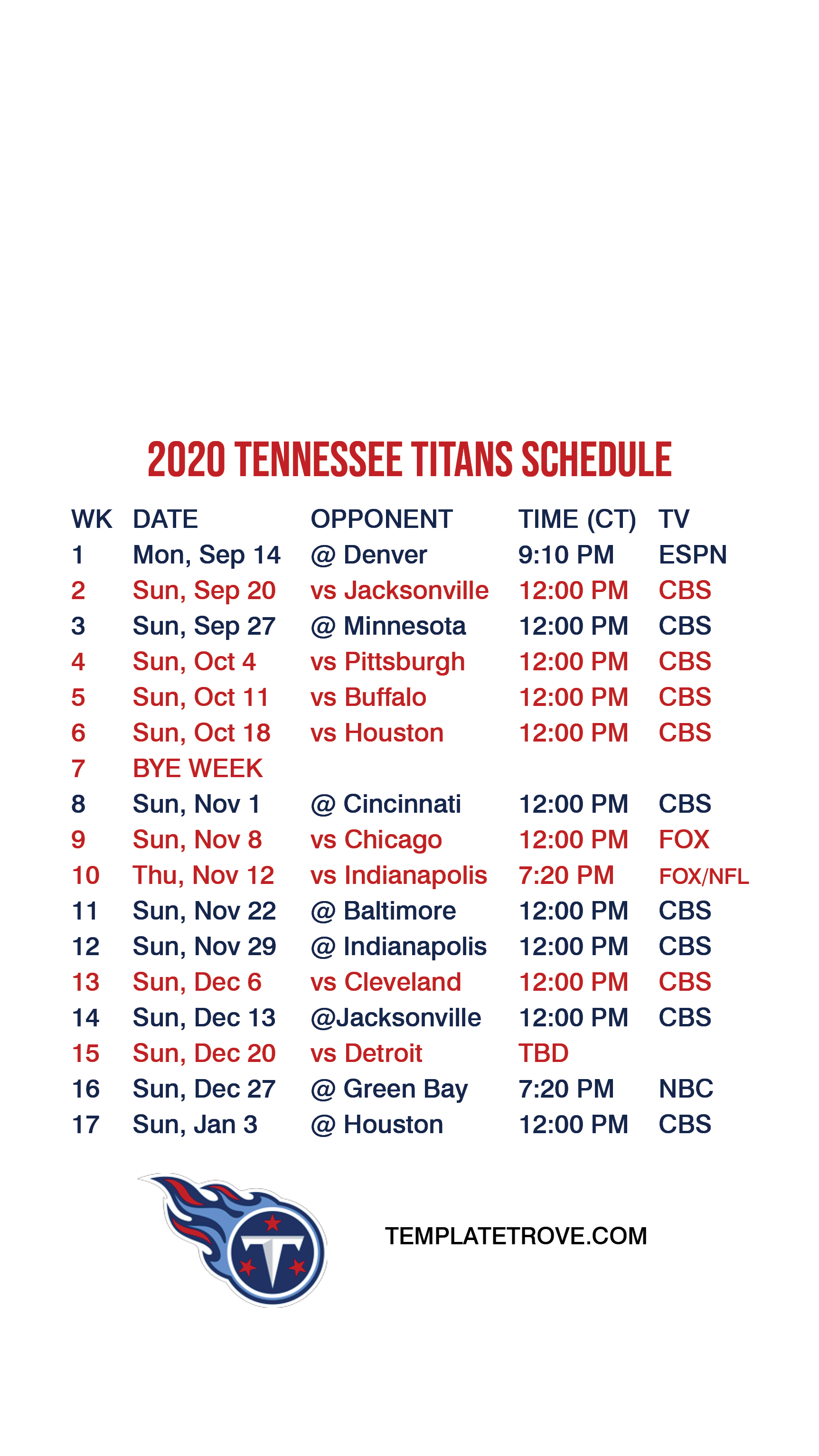 2020 2021 Tennessee Titans Lock Screen Schedule For IPhone