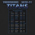 2020 2021 Tennessee Titans Wallpaper Schedule