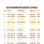 2020 2021 Washington Redskins Lock Screen Schedule For