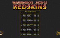 2020 2021 Washington Redskins Wallpaper Schedule