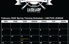 2020 Cactus League Spring Training Schedule La Mesa RV