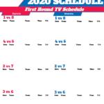 2020 NBA Playoffs TV Schedule Printable