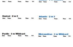 Nhl Playoff Schedule Printable