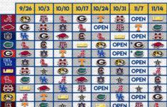 2020 SEC Football Schedule A Sea Of Blue