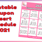 2021 Coupon Insert Schedule PRINTABLE VERSION