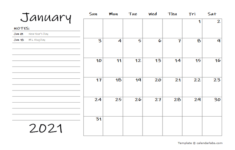 2021 Monthly Schedule Word Template Free Printable Templates