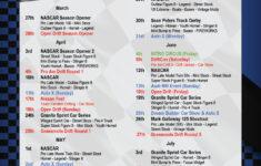 2021 Schedule Evergreen Speedway