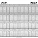 2021 To 2022 Calendar Planner Monthly Calendar Template Free