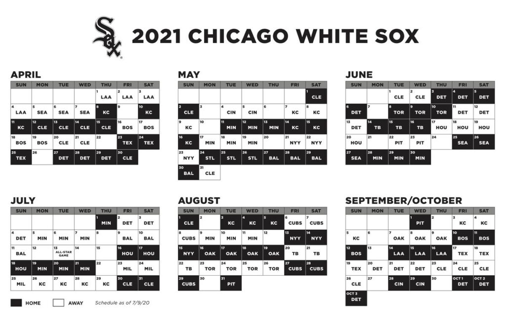 2021 White Sox Schedule Doubling Down On The Central