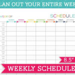 5 Weekly Schedule Templates Excel PDF Formats