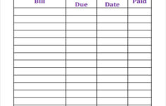 6 Bill Payment Schedule Templates Free Samples