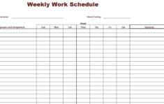 Free Printable Employee Schedule