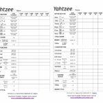 Printable Yahtzee Score Card 1