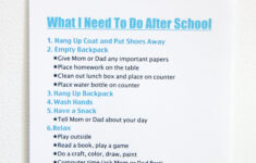 After School Routine FREE Printable