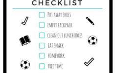 After School Schedule Printable