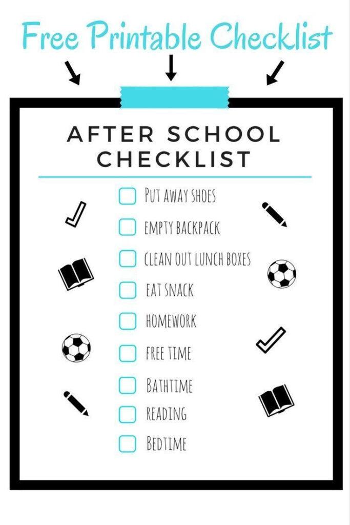 After School Schedule For Kids After School Schedule