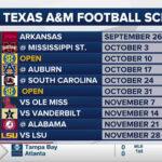 Aggie Football Calendar 2021 Printable March