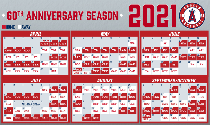 Angels Unveil Their Schedule For 2021 MLB Regular Season