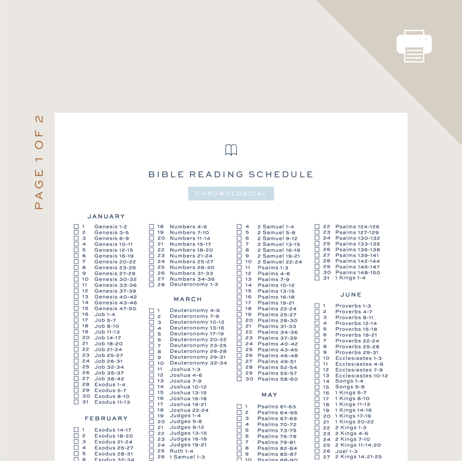 Bible Reading Schedule Chronological Bible In A Year JW