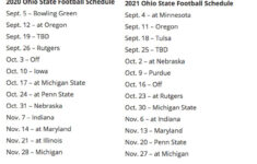 Big Ten Sets 2020 2021 Conference Football Schedules For